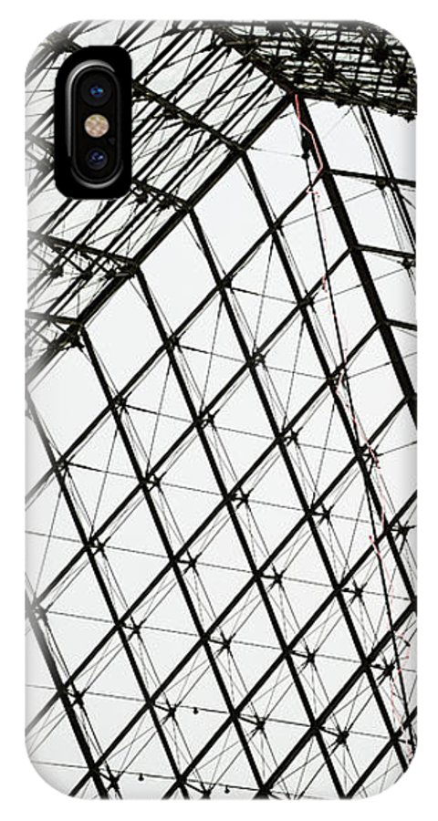 Louvre IPhone X / XS Case featuring the photograph Louvre Above by Christina Zizzo