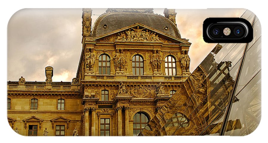 Louvre IPhone X Case featuring the photograph Louvre Reflection by Mick Burkey