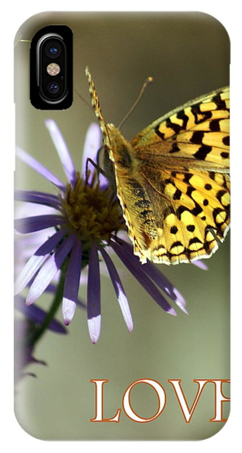 Love IPhone X Case featuring the greeting card Love 1 by Marty Koch