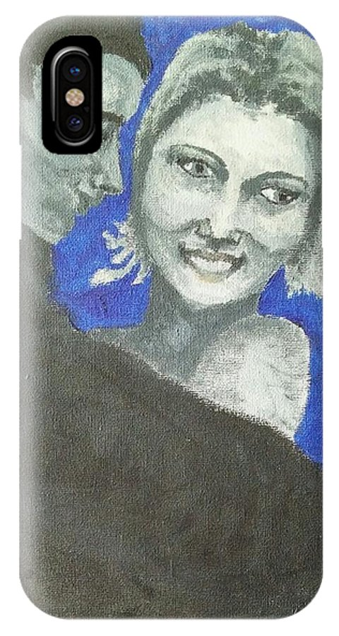 Man IPhone X Case featuring the painting Love Embrace by Heather James