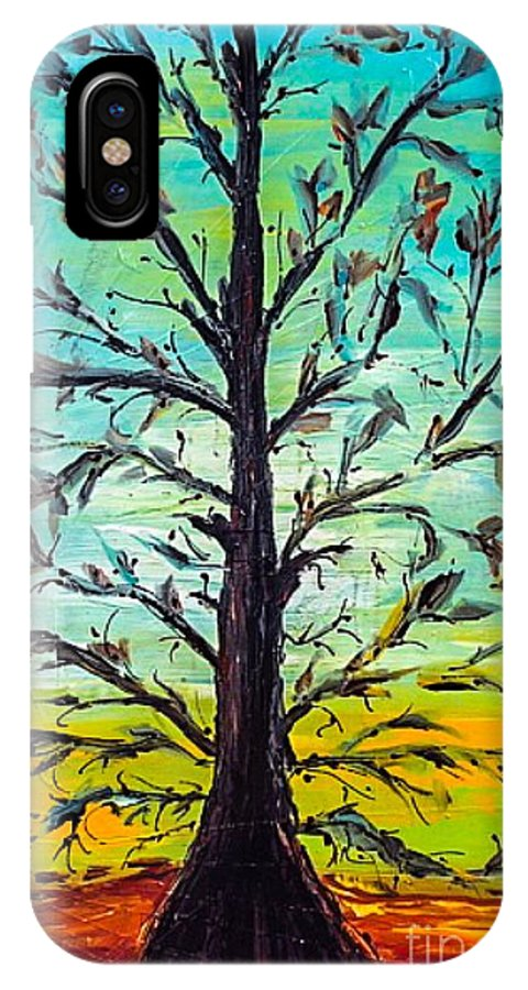 Tree IPhone X Case featuring the painting Love Life by Paula Baker
