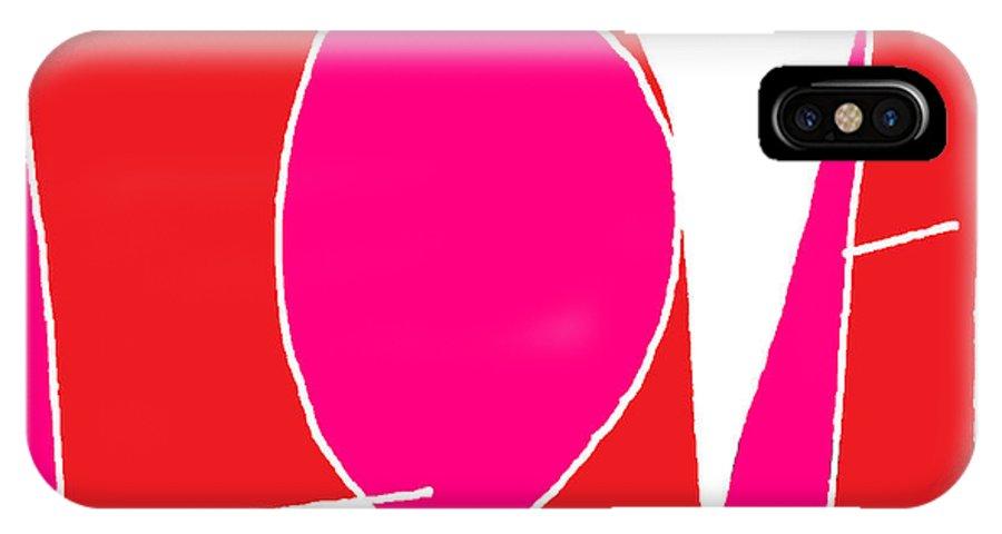 Love IPhone X / XS Case featuring the digital art Love by Maddalena Milani Terragni