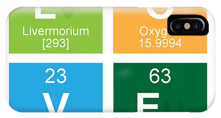 Love Periodic Table Iphone X Case For Sale By Edward Fielding