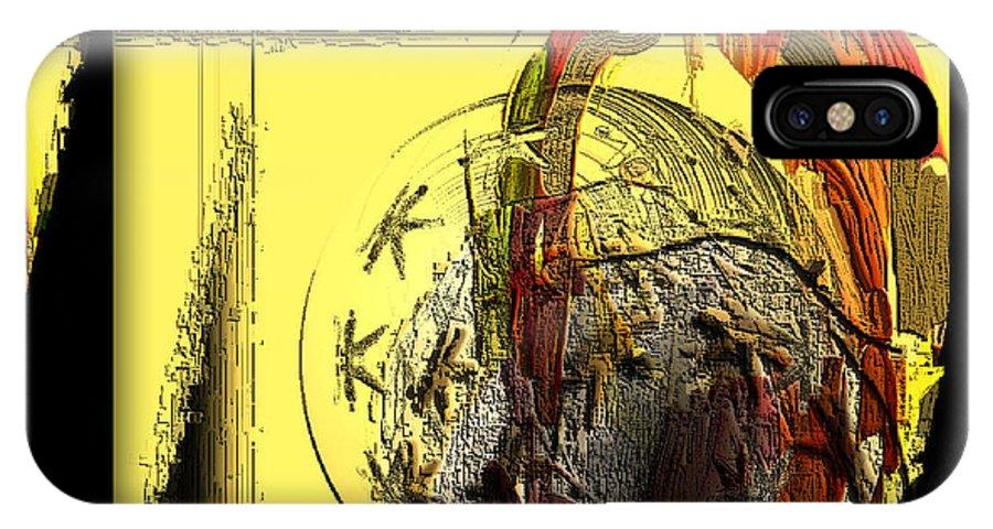 Digital IPhone X Case featuring the digital art Love Serie by Ilona Burchard
