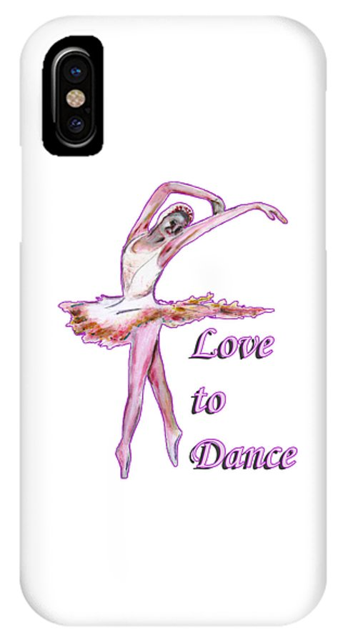 Dance IPhone X Case featuring the painting Love to Dance by Tom Conway