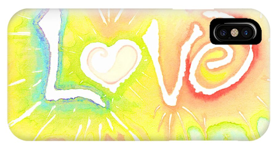 Love IPhone Case featuring the painting Lovelight by Chandelle Hazen