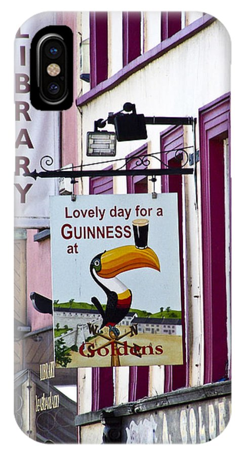 Irish IPhone X Case featuring the photograph Lovely Day for a Guinness Macroom Ireland by Teresa Mucha
