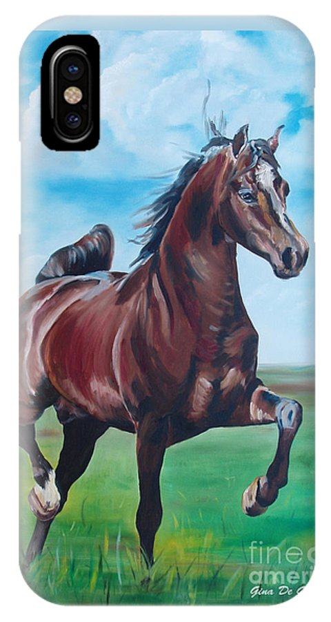 Horse IPhone Case featuring the painting Lovely by Gina De Gorna