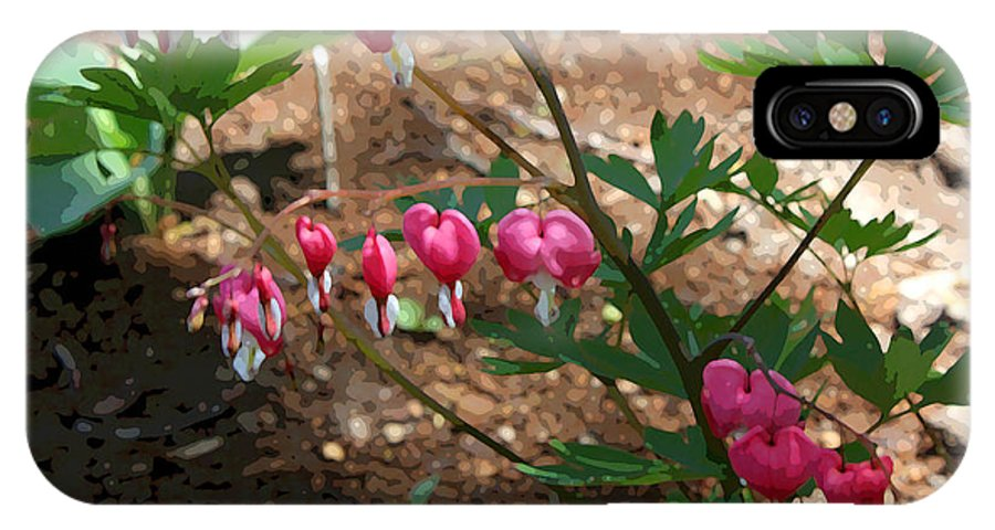 Bleeding Hearts IPhone X Case featuring the photograph Loves lies bleeding... by David Bearden