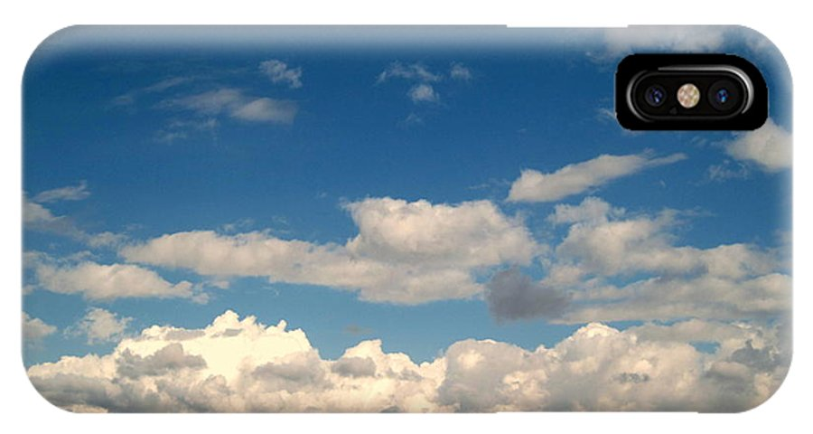 Clouds IPhone X Case featuring the photograph Low Hanging Clouds by Susanne Van Hulst