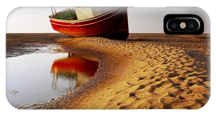 England IPhone X Case featuring the photograph Low Tide by Peter OReilly