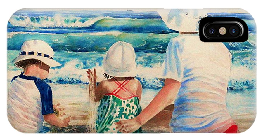 Beach IPhone X Case featuring the painting Low Tide by Tom Harris