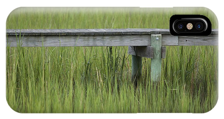 Lowcountry IPhone X Case featuring the photograph Lowcountry Dock Over Marsh Grass by Dustin K Ryan
