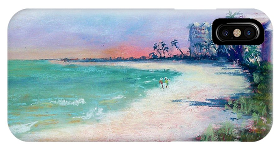 Lowdermilk Park IPhone X Case featuring the painting Lowdermilk Park North by Laurie Paci