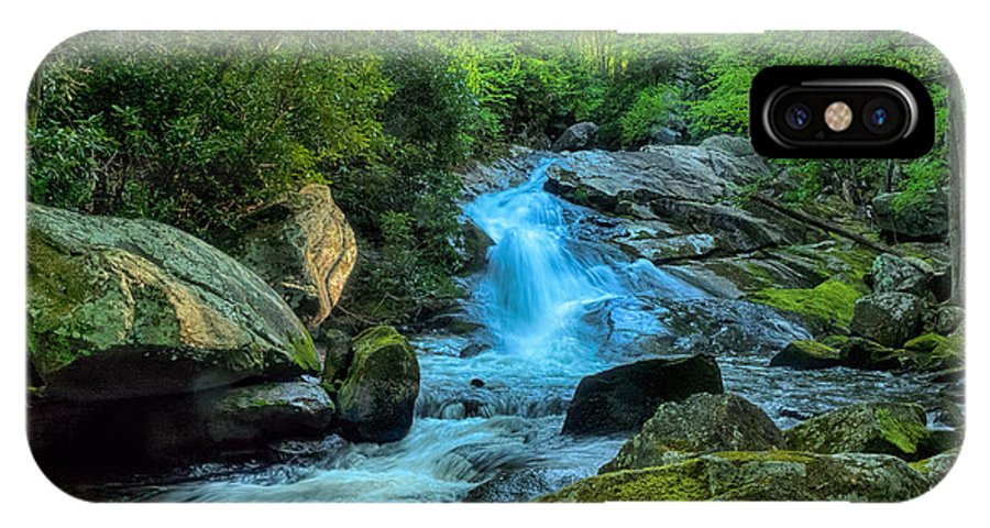 Waterfall IPhone X Case featuring the photograph Lower Lynn Camp Falls Smoky Mountains by Martin Belan