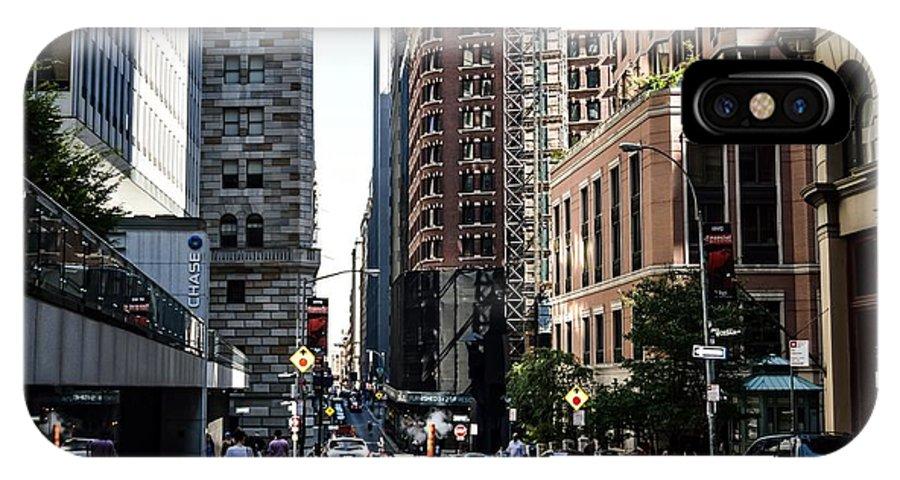 Manhattan IPhone X Case featuring the digital art Lower Manhattan by Danielle Nicholle