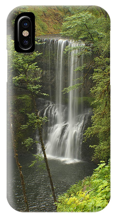 Silver Falls IPhone X Case featuring the photograph Lower South Falls by Idaho Scenic Images Linda Lantzy