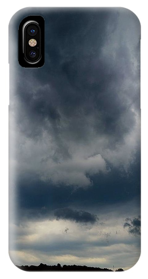 Nature IPhone X Case featuring the photograph Lowered Vapors by Ally White