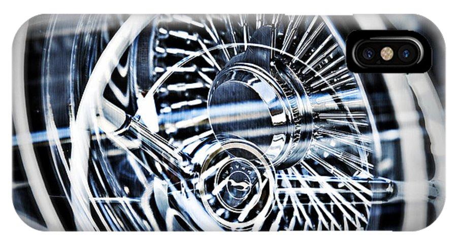 Lowrider Wheel Illusions IPhone X Case featuring the photograph Lowrider Wheel Illusions 1 by Walter Herrit
