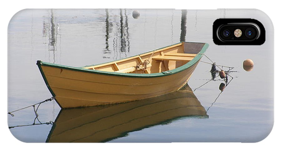 Row Boat IPhone X Case featuring the photograph Lttle Row Boat by Frederic Durville