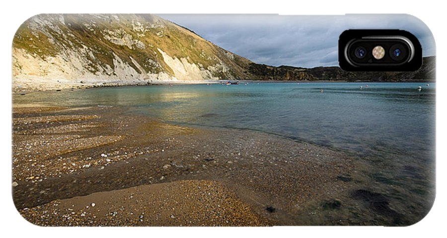 Dorset IPhone X / XS Case featuring the photograph Lulworth Cove by Smart Aviation