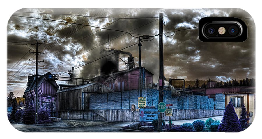 Digital Fantasy IPhone X / XS Case featuring the photograph Lumber Mill Fantasy by Lee Santa