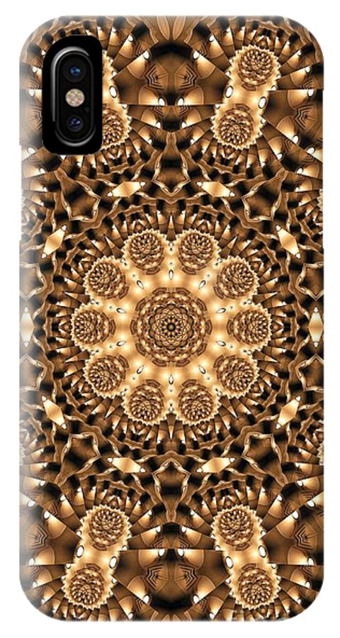 Kaleidoscope IPhone X Case featuring the photograph Kaleidoscope 86 by Ron Bissett