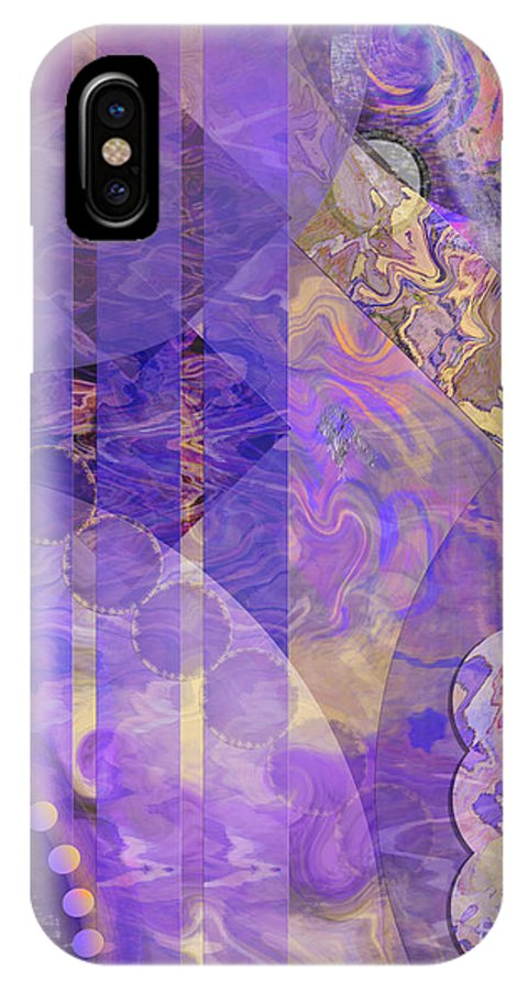 Lunar Impressions 2 IPhone X Case featuring the digital art Lunar Impressions 2 by John Beck