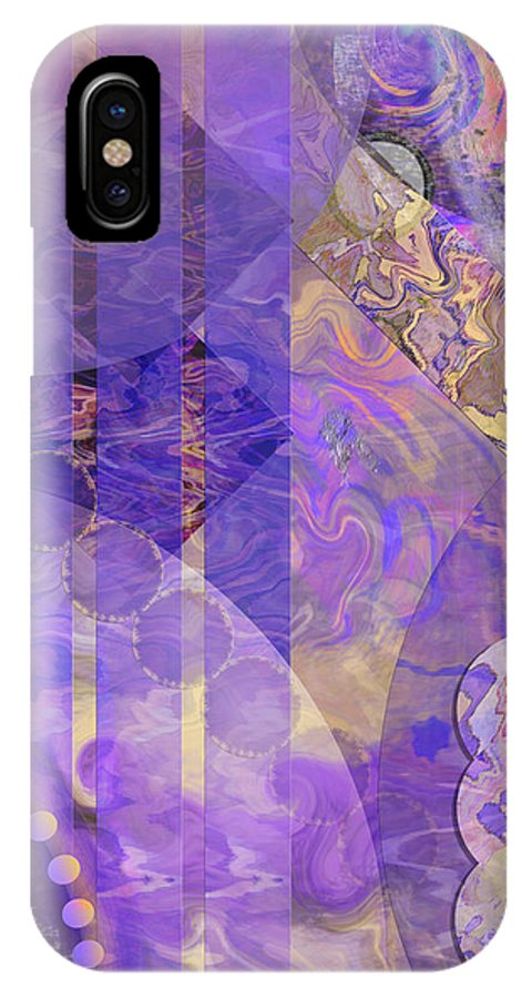 Lunar Impressions 2 IPhone X / XS Case featuring the digital art Lunar Impressions 2 by John Beck