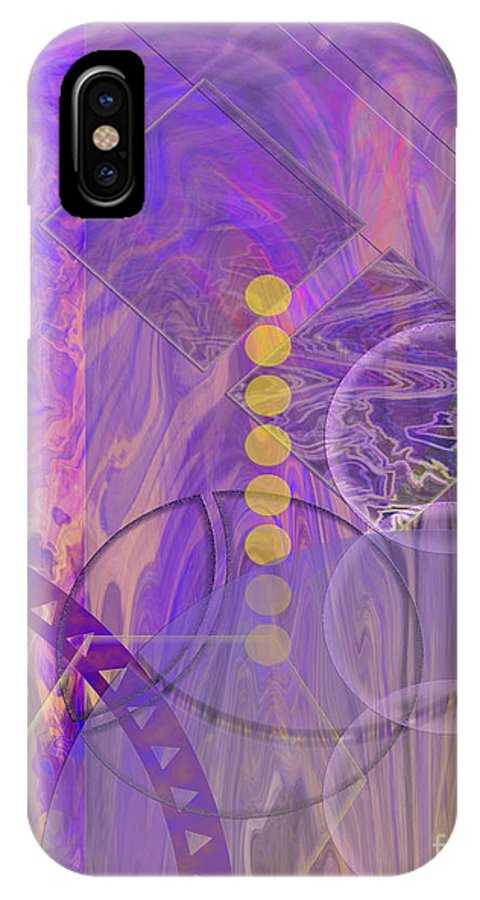 Lunar Impressions 3 IPhone X Case featuring the digital art Lunar Impressions 3 by John Beck