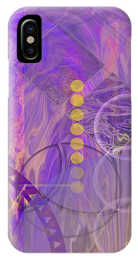 Lunar Impressions 3 IPhone X / XS Case featuring the digital art Lunar Impressions 3 by John Beck