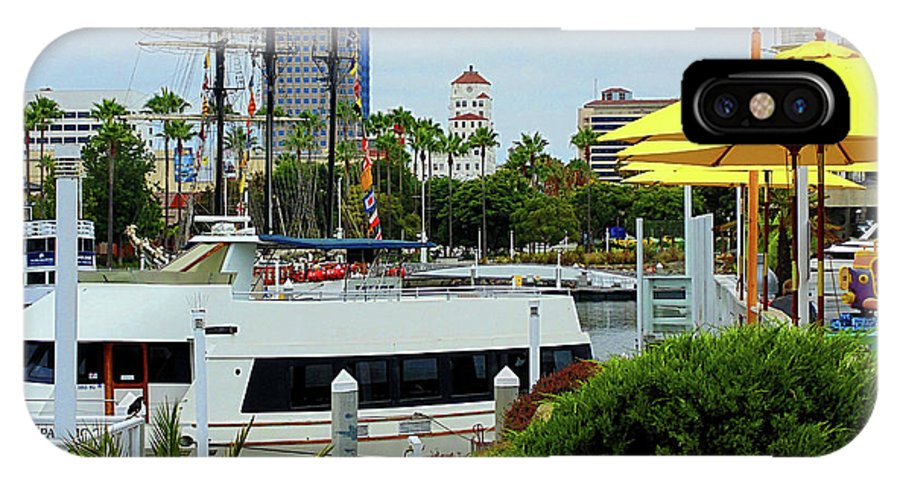 San Diego Pier IPhone X / XS Case featuring the photograph Lunch At The Pier by Randal Higby