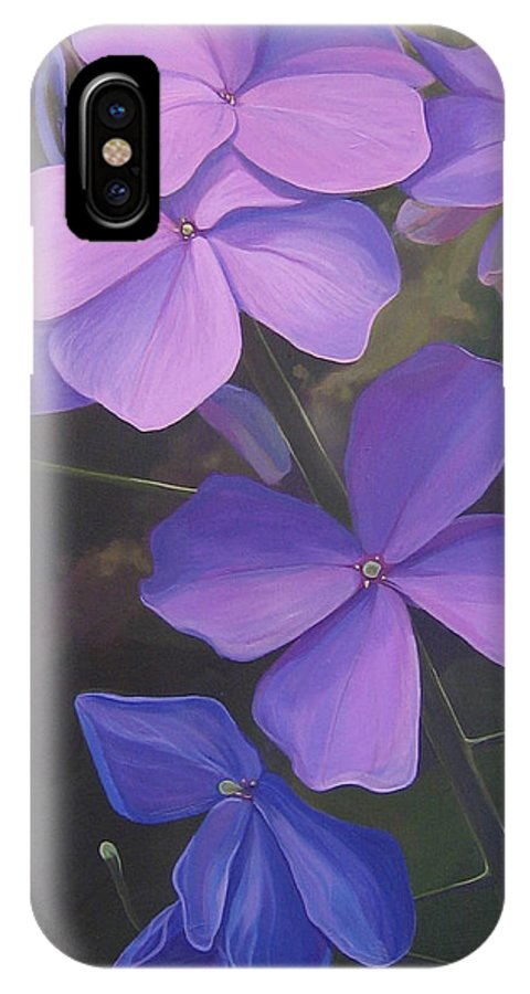 Closeup Of Colorado Wildflower Near Durango IPhone X Case featuring the painting Lush Life by Hunter Jay