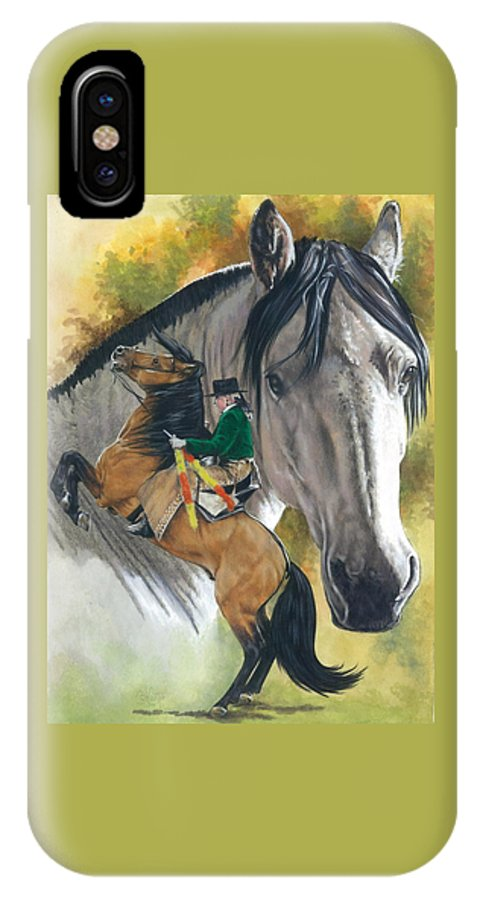 Hoof Stock IPhone X Case featuring the mixed media Lusitano by Barbara Keith