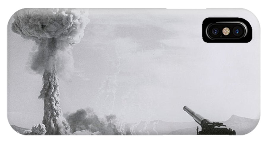 History IPhone X Case featuring the photograph M65 Atomic Cannon by Science Source