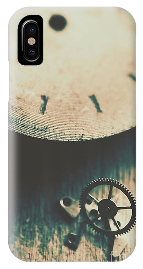Gear IPhone X Case featuring the photograph Machine Time by Jorgo Photography - Wall Art Gallery