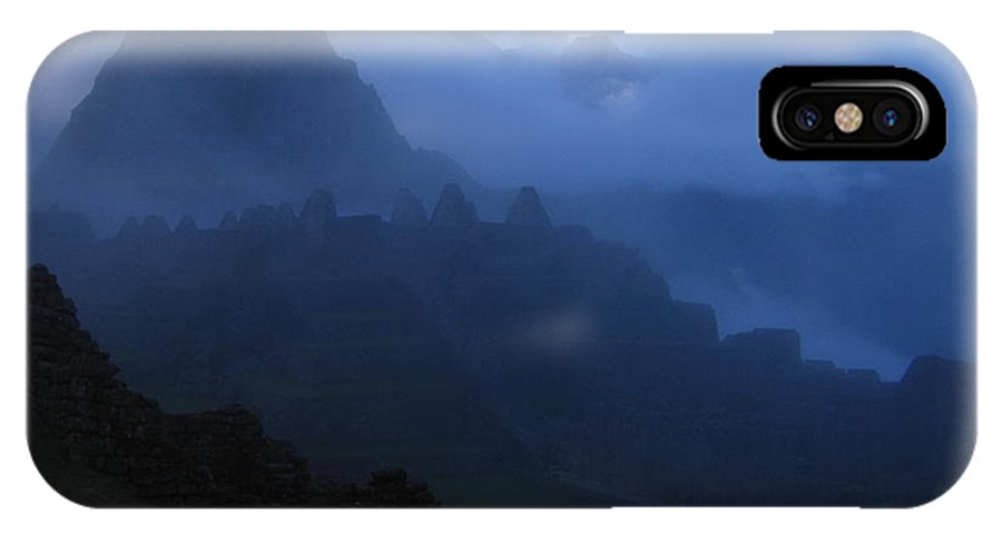 Landscape IPhone X Case featuring the photograph Machu Picchu Dawn by Sam Oppenheim