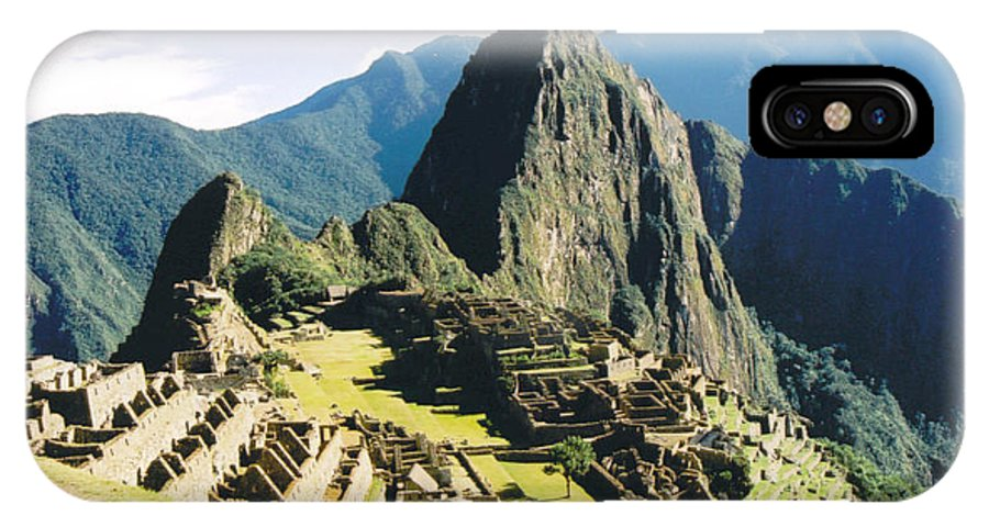 Peru IPhone X Case featuring the photograph Machu Picchu by Kathy Schumann