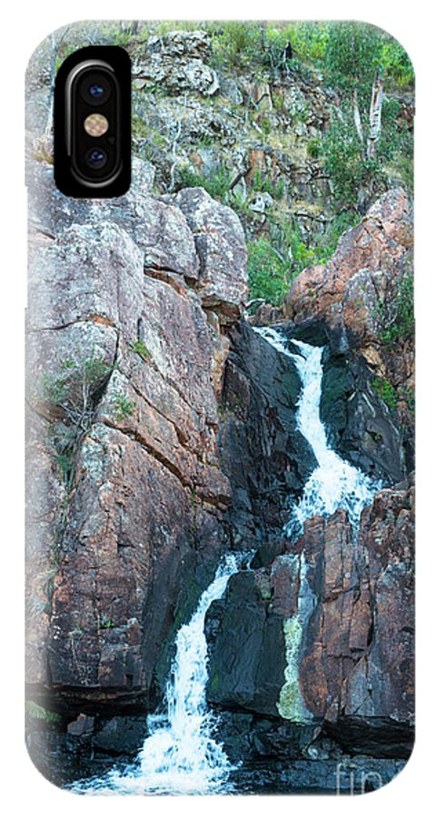 2017 IPhone X Case featuring the photograph Mackenzie Falls by Andrew Michael