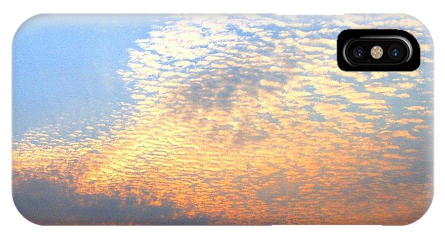 Mackerel Sky IPhone X Case featuring the photograph Mackerel Sky by Will Borden