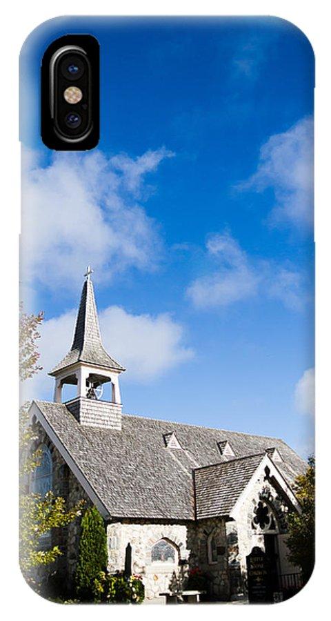 Mackinac Island Church IPhone X Case featuring the photograph Mackinac Island Church by John Vial