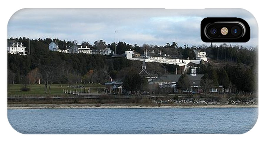 Mackinac Island IPhone X Case featuring the photograph Mackinac Island Panorama by Keith Stokes