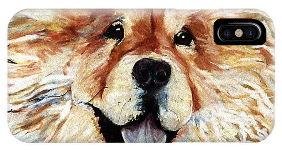 Chow Chow IPhone X / XS Case featuring the pastel Madame Chu Cho by Pat Saunders-White