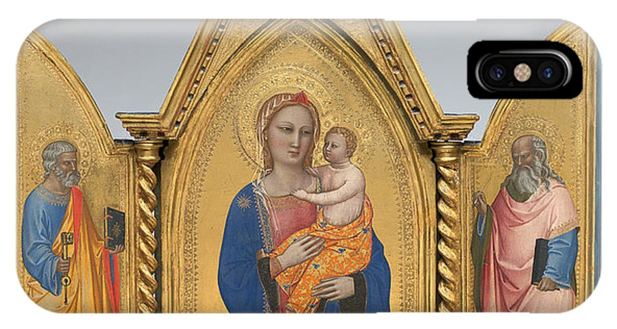 IPhone X Case featuring the painting Madonna And Child With Saint Peter And Saint John The Evangelist [middle Panel] by Nardo Di Cione