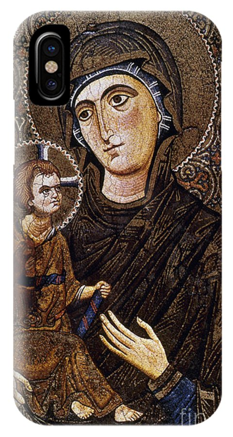 13th Century IPhone X Case featuring the photograph Madonna Icon by Granger
