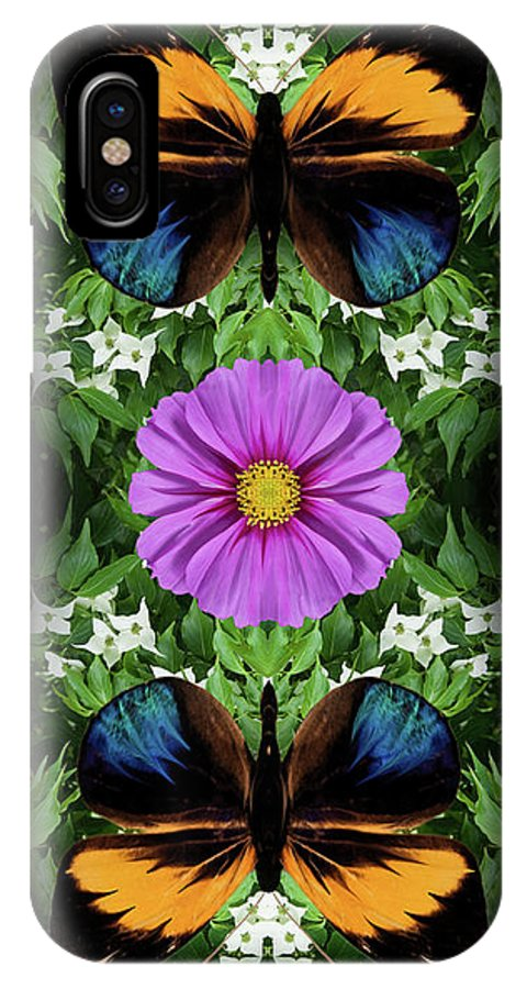 Botanical IPhone X Case featuring the photograph Magenta Daisy by Bruce Frank