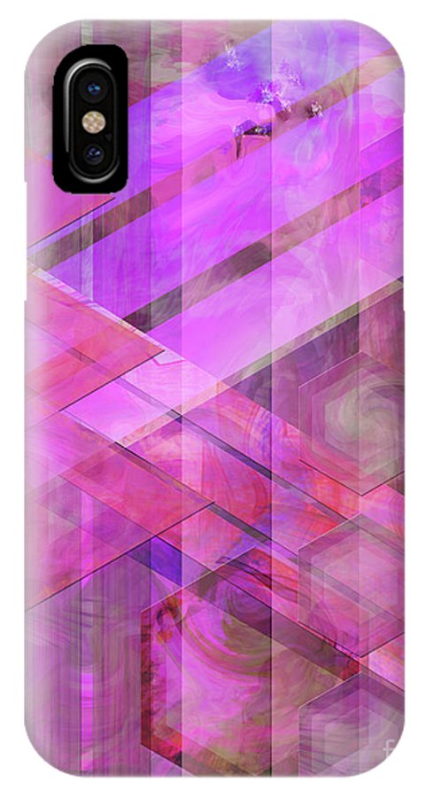 Magenta Haze IPhone Case featuring the digital art Magenta Haze by John Beck