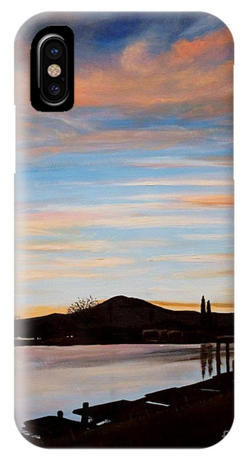 Landscape IPhone X Case featuring the painting Magic by Elizabeth Robinette Tyndall