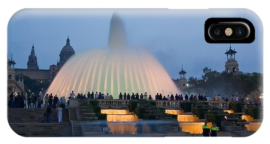 Barcelona IPhone X Case featuring the photograph Magic Fountain In Barcelona by Sven Brogren