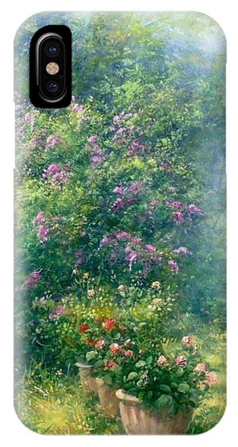 Flowers IPhone X Case featuring the painting Magic Garden by Antonietta Varallo